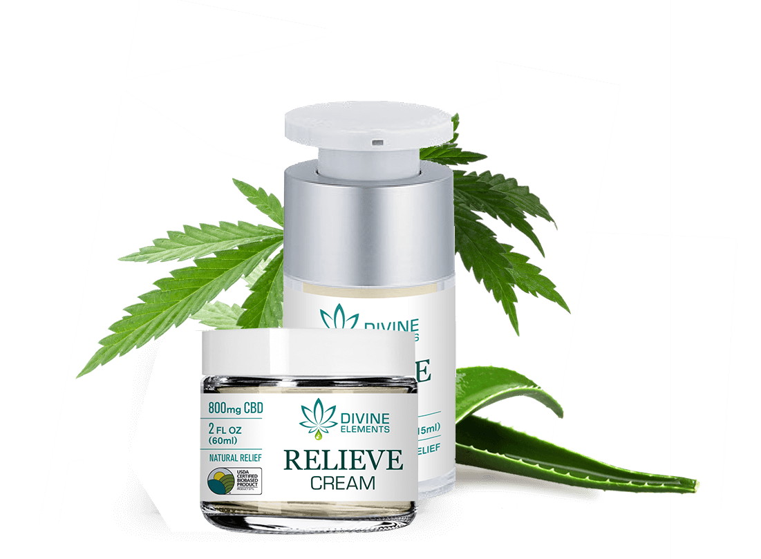 relieve cream divine elements cbd products image