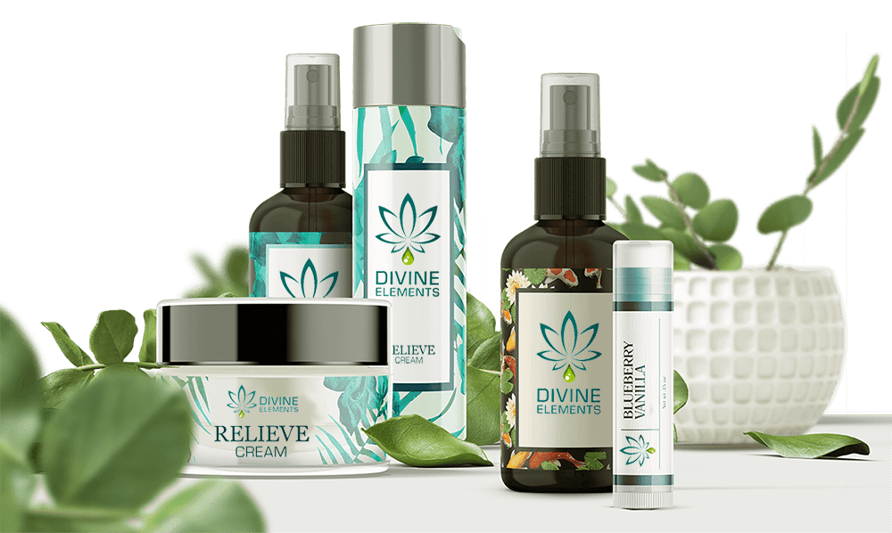 divine elements miracle cream mist and lip balm cbd products image